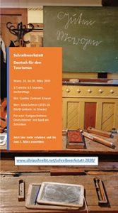 Schreibwerkstatt: Deutsch für den Tourismus